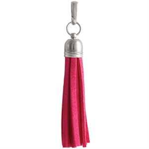 Picture of Fuchsia Leather Tassel