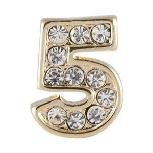 Picture of Gold Number Five Charm